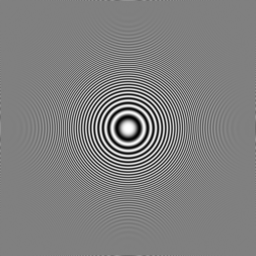 BiLinearによるゾーンプレートの縮小